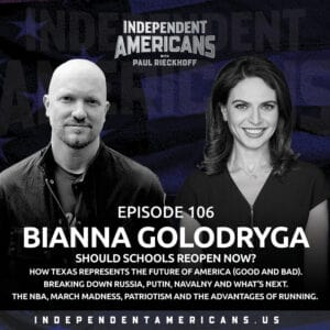 106: Bianna Golodryga.  Should Schools Reopen Now? How Texas Represents the Future of America (Good and Bad). Breaking Down Russia, Putin, Navalny and What's Next. March Madness, the Advantages of Running and One Shining Moment.